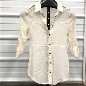Maurice's button up 3/4 sleeve blouse SZ Sm